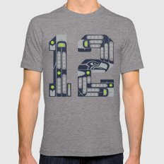 Seattle 12th Man Tri-Grey LARGE Mens Fitted Tee