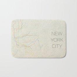 Minimal New York City Subway Map Bath Mat