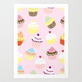 Cupcakes Party Artwork Art Print