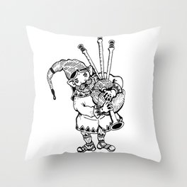 The Travelling Entertainer Throw Pillow