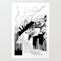 maze runner Art Prints featuring Runner by Michael Tuck