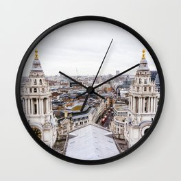 City View over London from St. Paul's Cathedral Wall Clock