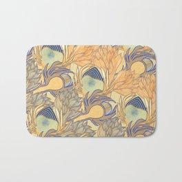 Art Nouveau Artichokes Gold Bath Mat