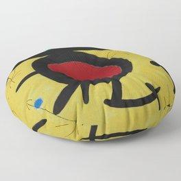 Joan Miro Vol Doiseaux, 1968, Flight of Birds Encircling the 3 Haired Woman on a Moon, Artwork, Prin Floor Pillow