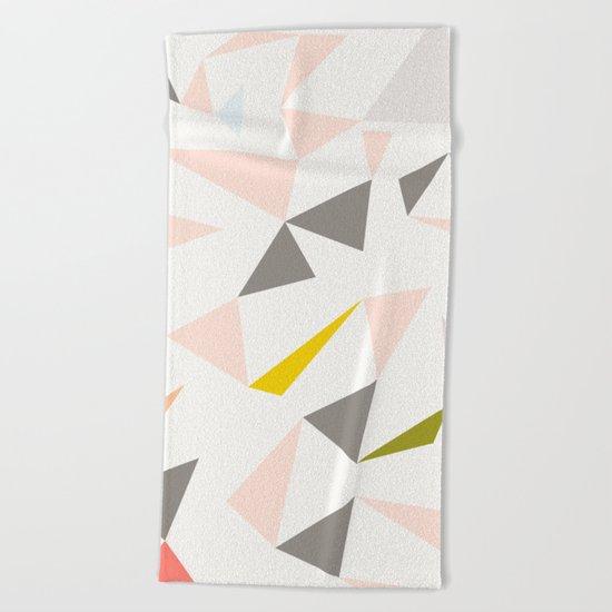 pastel triangles Beach Towel