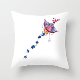 Flying kite or secret weapon? Throw Pillow
