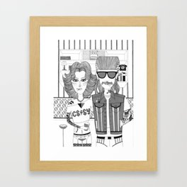 Hot People Framed Art Print