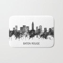 Baton Rouge Louisiana Skyline BW Bath Mat