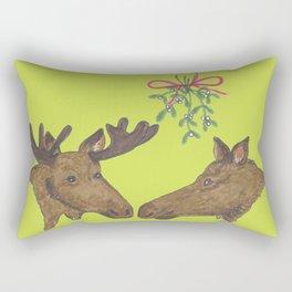 Moose Christmas Rectangular Pillow