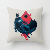 knight Throw Pillows featuring Knight by Reno Nogaj