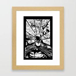 Caped Crusader & Friends Framed Art Print