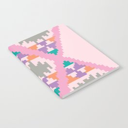 pixel kelim pattern Notebook