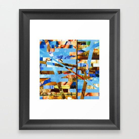 Geoffrey (stripes 18) Framed Art Print
