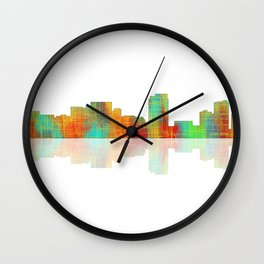 Honolulu Skyline Wall Clock