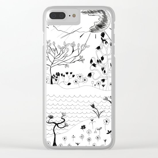 Perfect Imperfection Clear iPhone Case