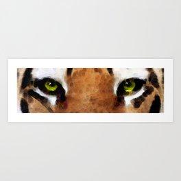 Tiger Art - Hungry Eyes Art Print