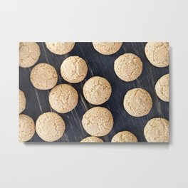 round small biscuits Metal Print