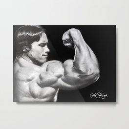Flexing Arnold Metal Print