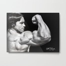 Flexing Arnold Metal Print