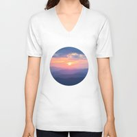 tennessee V-neck T-shirts featuring Sunset in Tennessee by GF Fine Art Photography