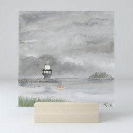 Fog at the Foreside Mini Art Print