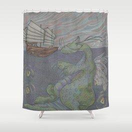 Dreaming Dragon Shower Curtain