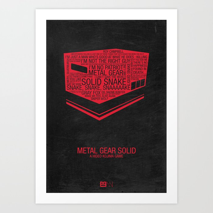 Metal Gear Solid Typography Art Print By Kodychristian