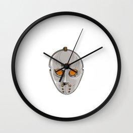Hockey Goalie Mask Wall Clock