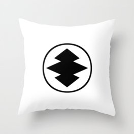 Black Leather Jackets Throw Pillow