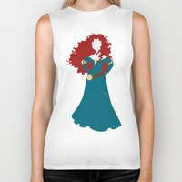 merida Biker Tanks featuring Merida by Dewdroplet