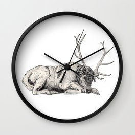 Stag // Graphite Wall Clock