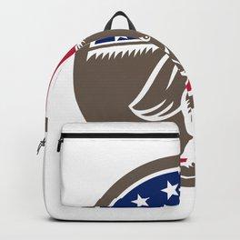 Republican Elephant Mascot USA Flag Backpack