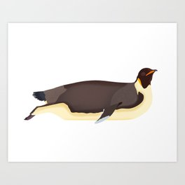 Emperor Penguin Art Print