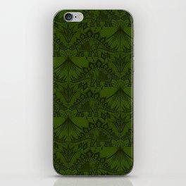 Stegosaurus Lace - Green iPhone Skin