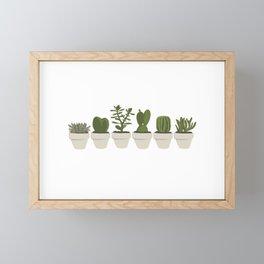 Cacti & Succulents - White Framed Mini Art Print