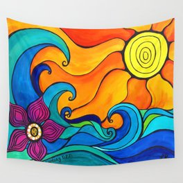 Good Vibes and High Tides Wall Tapestry