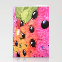 hot pink Stationery Cards featuring hot pink by Mojca G. Vesel