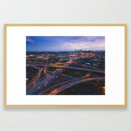 Denver Highway Interchange Framed Art Print