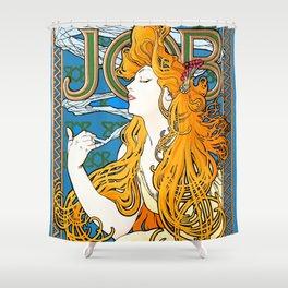 "Alphonse Mucha ""Job"" Shower Curtain"