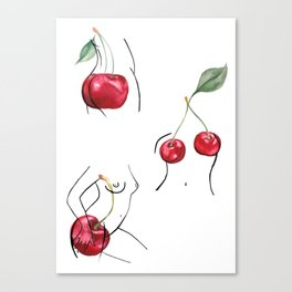 Cherry ladies Canvas Print