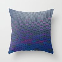 scales Throw Pillows featuring Scales by Sahara Novotny