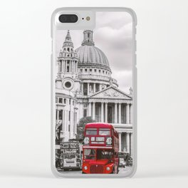 London Classic Bus Clear iPhone Case