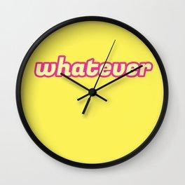 The 'Whatever' Art Wall Clock
