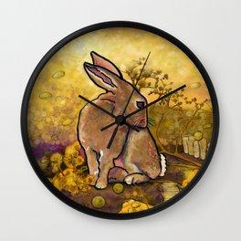 Abundance Bunny Wall Clock