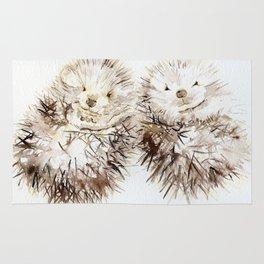 Hedgehog Cuddles Rug
