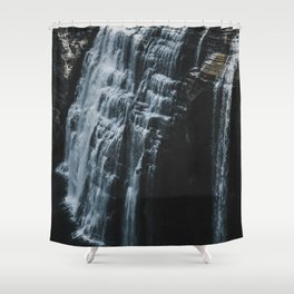 Middle Letchworth Falls Shower Curtain