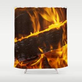 Warming Fire Shower Curtain