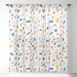 Terrazzo #pattern #illustration #Terrazzo Sheer Curtain