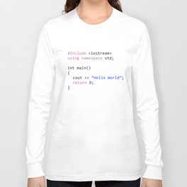 Hello world - First program in Computer science Long Sleeve T-shirt