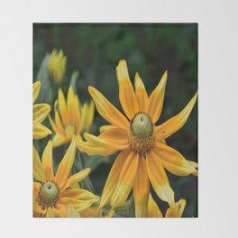 Golden Yellow Throw Blanket